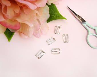 """5 x Silver 10 mm (3/8"""") G-Hooks"""