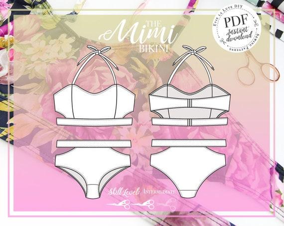 DIGITAL Bikini Sewing Pattern The Mimi Bikini Evie la Luve | Etsy