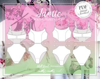 DIGITAL Lingerie Sewing Pattern - The Jamie Bodysuit & Separates - Evie la Luve