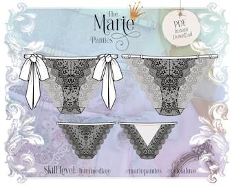 Marie Panties Sewing Pattern PDF Instant Download - Evie la Luve