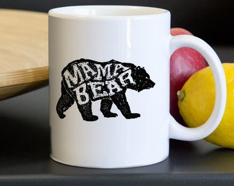 Mamabear Mug - Mama Bear New Mom Coffee Cup - Pregnancy Reveal Babyshower Gift - Gifts for New Moms - Mom to Be Christmas Gift