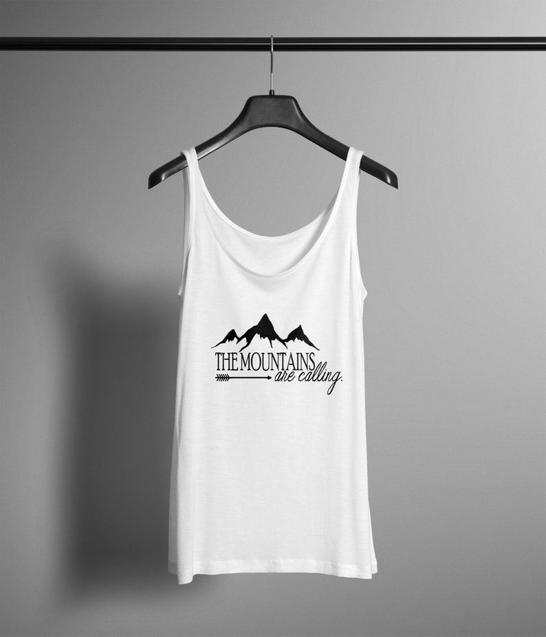 ba3a3c61 The Mountains Are Calling Shirt Tank Top Outdoorsy Tee | Etsy