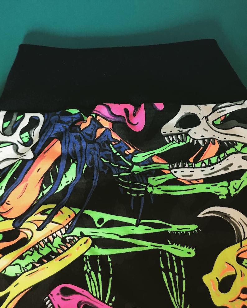 Goth Dino Skull Harem Pants Punk Alternative Metal Rockabilly