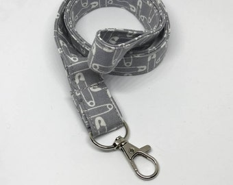 Safety Pin Lanyard  - Sewer - Quilter - Crafter - ID / Badge Holder