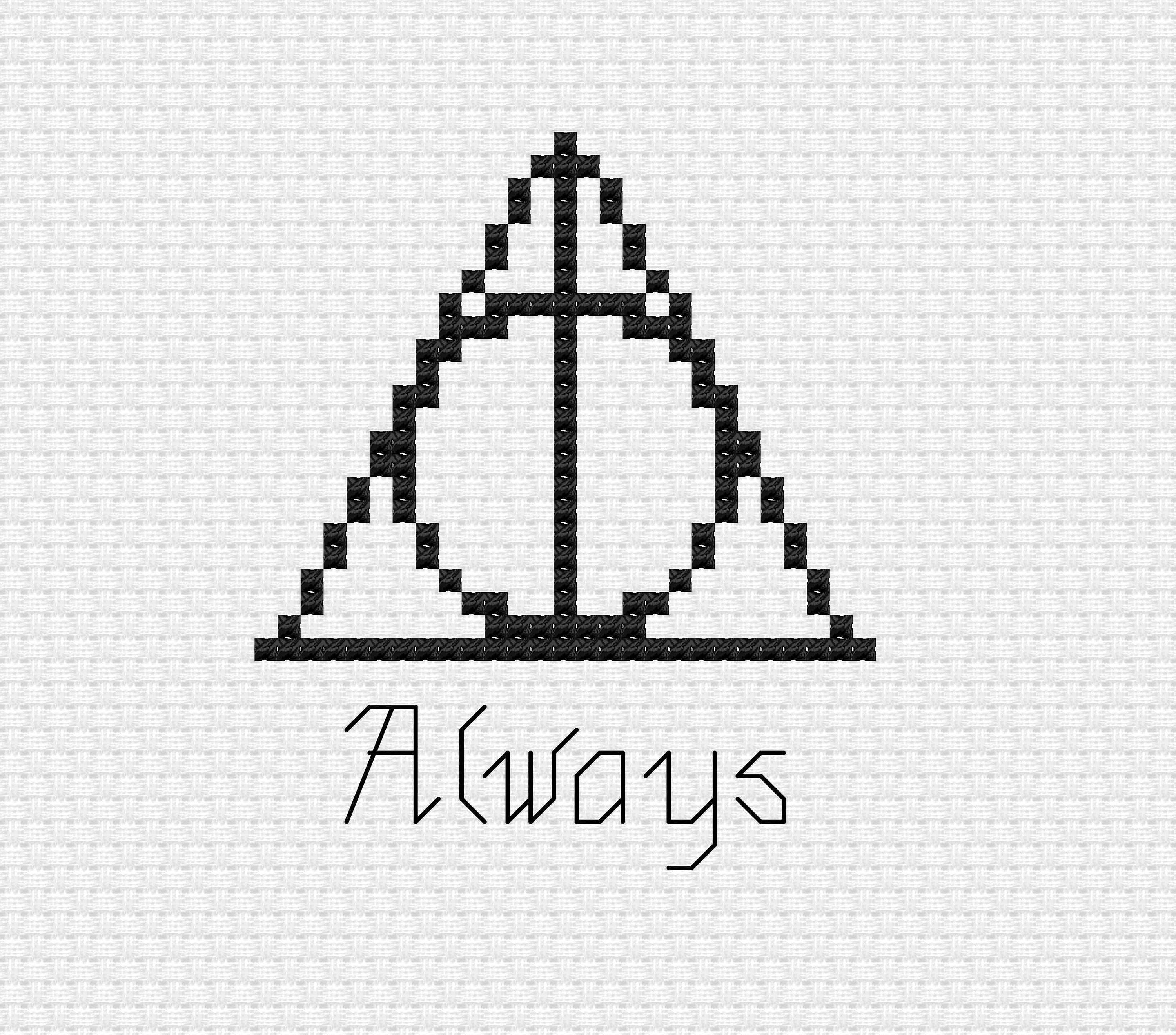 Harry Potter Wizard Always Instant Download Cross Stitch Pdf Etsy
