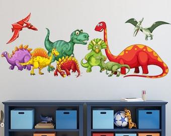 Dinosaur wall decal | Etsy