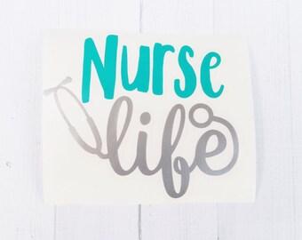 Nurse Life Decal | Scrub life Decal | Stethoscope vinyl decal | Nurse decal |  car decal | iPhone decal | Yeti decal | laptop decal