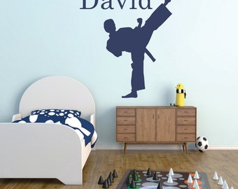 Karate vinyl wall decal, Personalized karate Arts wall decal, Martial Arts wall decal, Karate wall decal, kids room Karate wall sticker