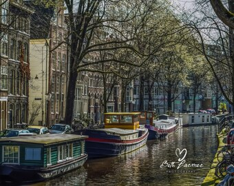 Houseboats , Photo gifts, Photography, Wall Art, Pictures, Amsterdam Photography, Gifts, Handmade Art an Collectables, Color Photography