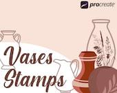 Procreate Vase Stamps, Empty Vases Stamps, Boho Vases for Procreate, Vase - Plants - Flower Pot stamps
