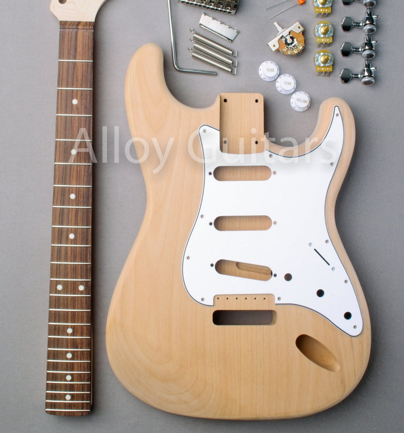 DIY Platinum ST Style Electric Guitar Kit image 0