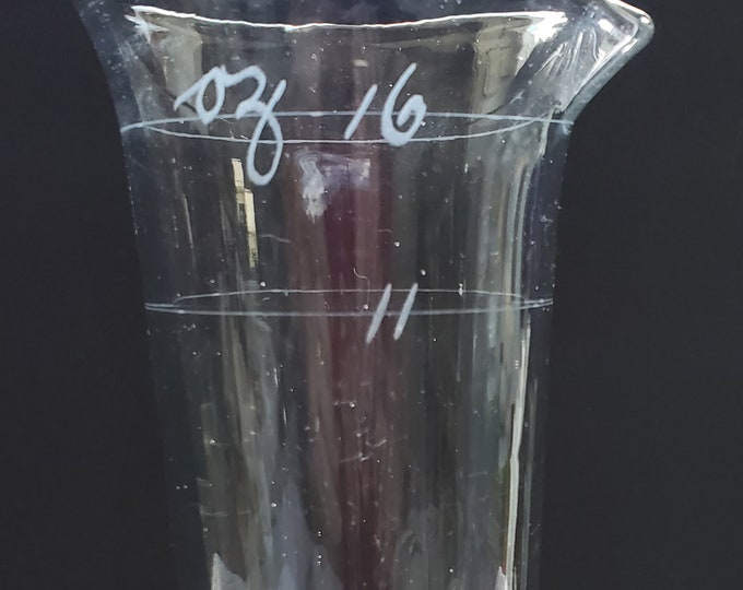 Antique Laboratory Beaker with 11 and 16 Ounce Graduation