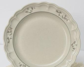 Pfaltzgraff Remembrance Heirloom Beverage Dinnerware Server  Beige Floral Motif Patterned Stoneware Collectible