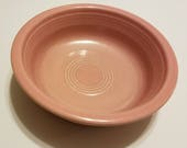 TWO 7 quot Nappy Bowl in Fiesta Rose (Older) by Homer Laughlin 1950s Vintage Discontinued