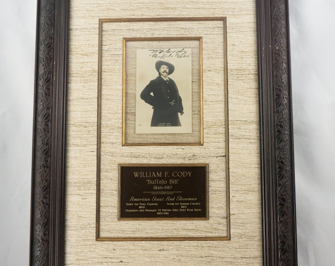 Framed and Matted William F. Cody Buffalo Bill Autograph