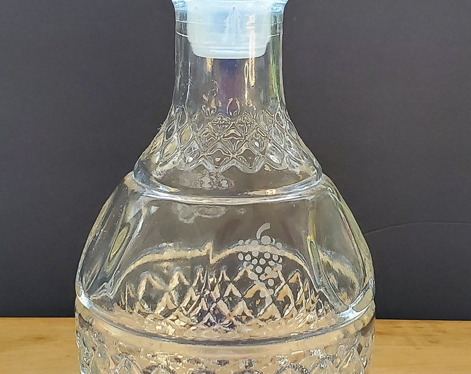 Gorgeous Vintage Heavy Decanter & Stopper PHC4 by PRINCESS HOUSE Glass