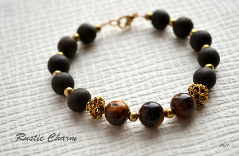 Tiger Eye and Polymer Bracelet image 0