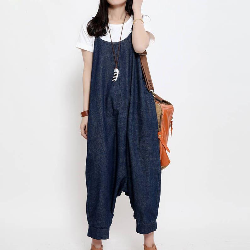 c85086d8aa7 Women Denim Jumpsuits Cotton Overalls Pants With Pockets