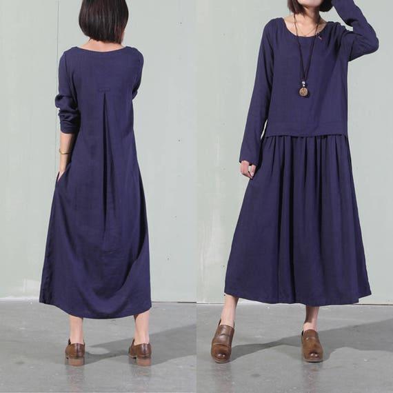 27403c9f1c4 Women Leisure Maxi Dress Summer Dress Loose Fitting Dress