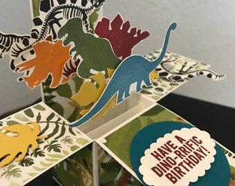 Dinosaur Pop Up Birthday Card Dino Rrific