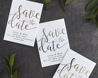 Real Foil Save the Date Magnet - Gold, Rose Gold or Silver