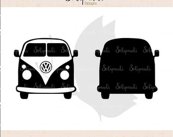VW Camper Van // Minibus // SVG and DXF Cut Files - for Cricut, Silhouette, Die Cut Machines // scrapbooking // solipandi // #151