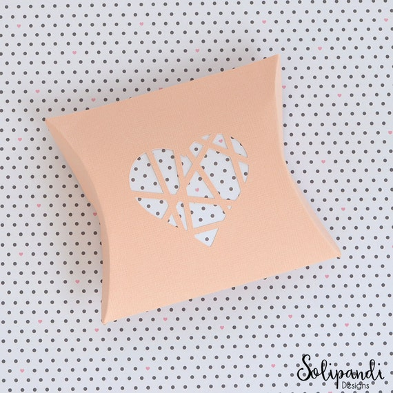 Pillow Box With Shattered Heart Die Cut SVG And DXF