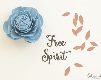 Free Spirit - Handwriting - SVG and DXF Cut Files - for Cricut, Silhouette, Die Cut Machines // scrapbooking // paper crafts // #190