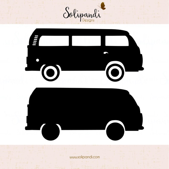 Vw Camper Van Minibus Side View Svg And Dxf Cut Files Etsy