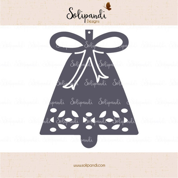 Christmas Bell Svg Cut Files Svg And Dxf Cut Files For Etsy