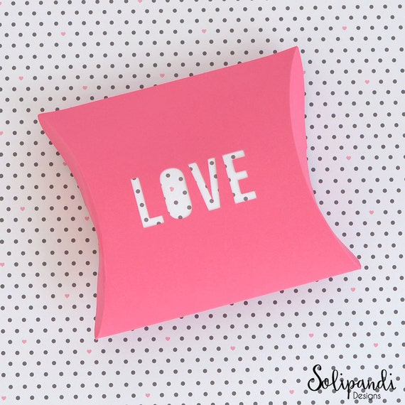 Pillow Box LOVE Die Cut SVG And DXF Files