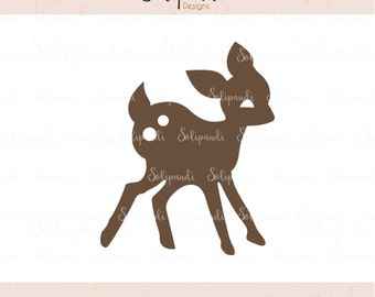 Bambi - Baby Deer - SVG and DXF Cut Files - for Cricut, Silhouette, Die Cut Machines // scrapbooking // paper crafts // kids // #216