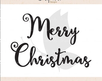 Merry Christmas - Handwriting - SVG and DXF Cut Files - for Cricut, Silhouette, Die Cut Machines // scrapbooking // paper crafts // #147
