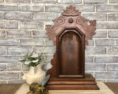 Antique New Haven Clock Company Clock Case Mantle Decor Gingerbread Style