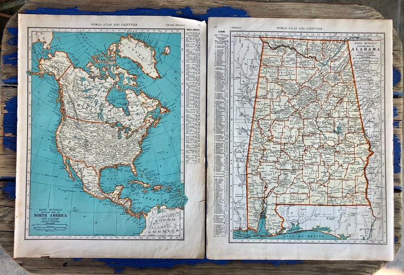 Atlas Print Vintage Map! 1937 United States Vintage Map Antique Wall Map Housewarming Gift