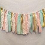 Baby Sprinkle Shower/Sprinkle Shower Garland/Fabric Garland/Mint Fabric Garland/Polka Dot Garland/Polka Dot Banner/Gender Reveal Garland