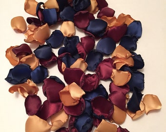 Navy Rose Petals/Gold Rose Petals/Burgundy Rose Petals/Navy Wedding Decor/Country Wedding/Maroon Rose Petals/Gold Wedding/Autumn Wedding