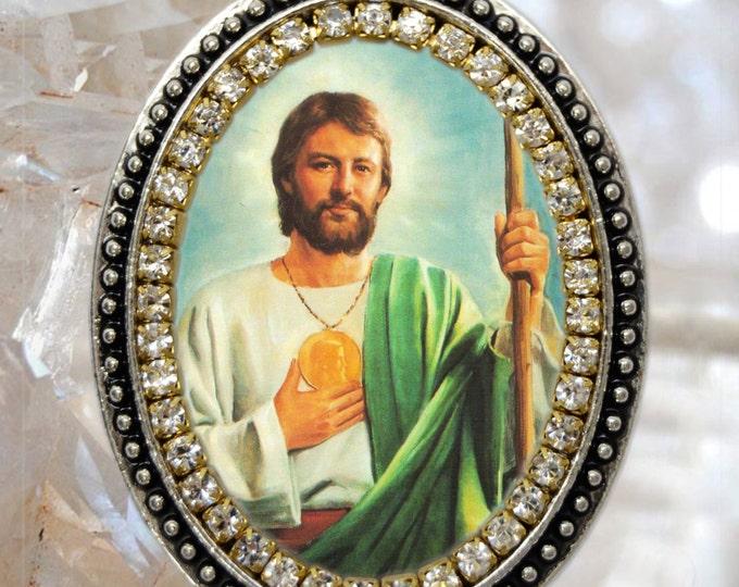 St. Jude Thaddeus The Apostle, Handmade Charm Necklace Catholic Christian Religious Jewelry Medal Pendant, São Judas Tadeu