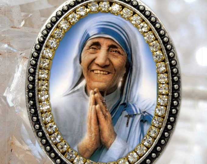 Saint Mother Teresa of Calcutta Handmade Necklace Medal Pendant