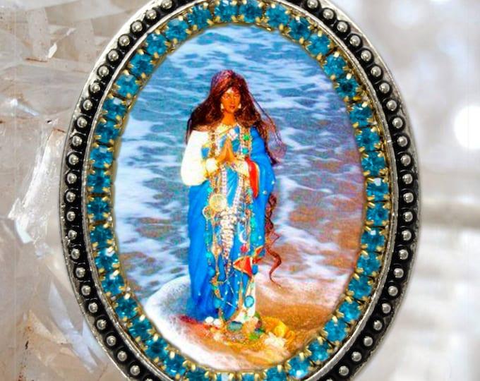 Saint Sarah Kali or Sara Kali Handmade Necklace Gypsies Patron Saint Catholic Christian Religious Jewelry Medal Pendant