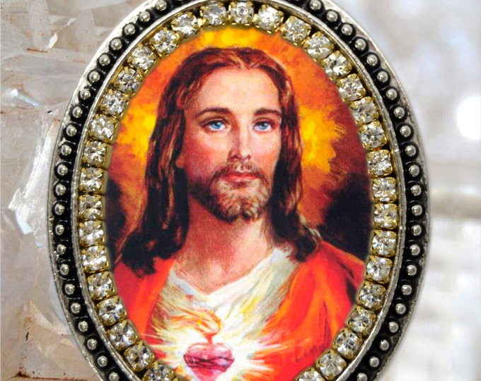 Jesus Christ Handmade Necklace Catholic Christian Religious Jewelry Medal Pendant