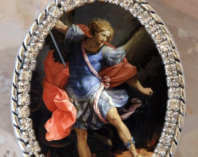 St. Michael Archangel Handmade Necklace Catholic Christian Religious Jewelry Medal Pendant