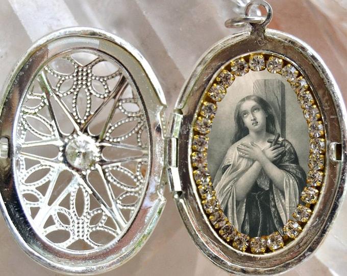 "St. Joan of Arc Handmade Necklace Catholic Religious Jewelry Pendant ""The Maid of Orléans"";Sainte Jeanne d'Arc; La Pucelle d'Orléans"