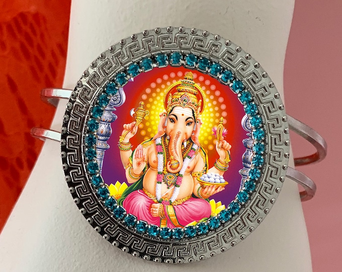 Lord Ganesha Bracelet - Ganesh Chatutthi or Ganesh - Hindu Indian Charm Jewelry