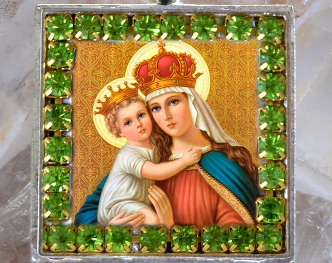 Our Lady of Good Remedy Handmade Necklace Catholic Christian Religious Jewelry Medal Pendant Nossa Senhora dos Remédios
