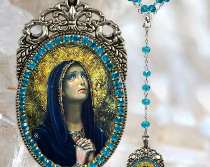 Our Lady of Sorrows Rosary - Patroness of Slovakia; Hungary; Poland; Malta & Mississippi - Mater Dolorosa