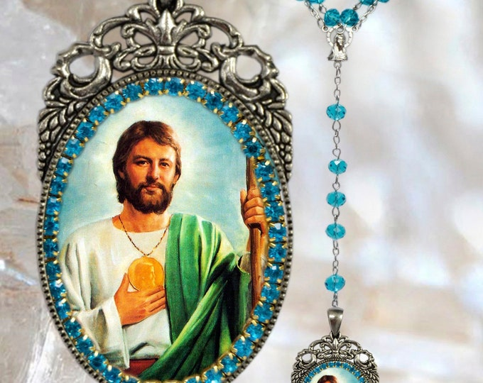 St. Jude Thaddeus The Apostle Rosary - Patron Saint of Lost Causes; Desperate Situations & Hospitals Christian Pendant - São Judas Tadeu