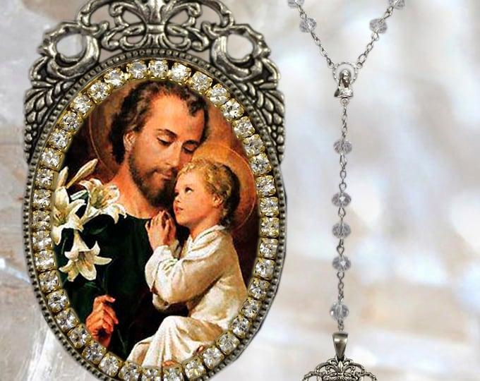 Saint Joseph Rosary - Patron Saint of Unborn Children; Fathers; Immigrants; Workers; Employment; Explorer; Pilgrims; Traveller & Carpenters
