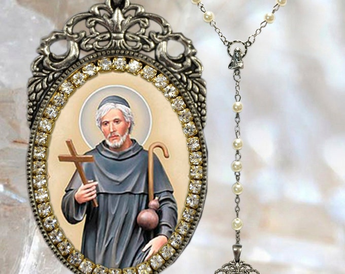 Peregrine Laziosi Rosary - Saint Pellegrino Latiosi) - Patron Saint of Persons Suffering from Cancer; AIDS & Other Illnesses - Handmade