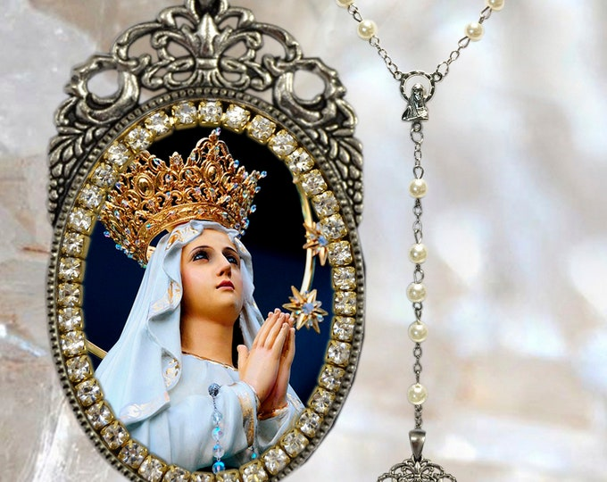 Our Lady of Lourdes – Rosary - Patroness of Bodily Ills; Sick People & Protection from Diseases - Handmade Christian Religious Jewelry